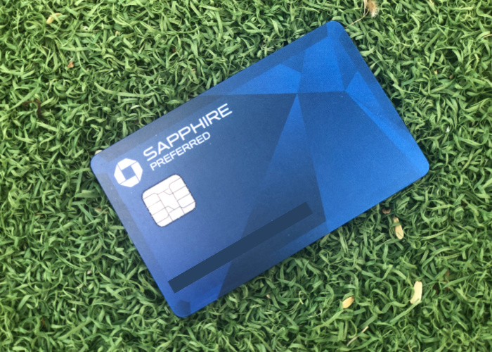 a chase sapphire preferred card with a green background