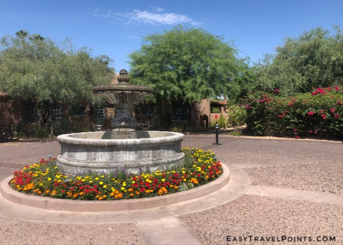 The entrance to the Hermosa Inn in Paradise Valley Arizona