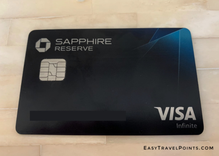 a chase sapphire reserve credit card laying on a table