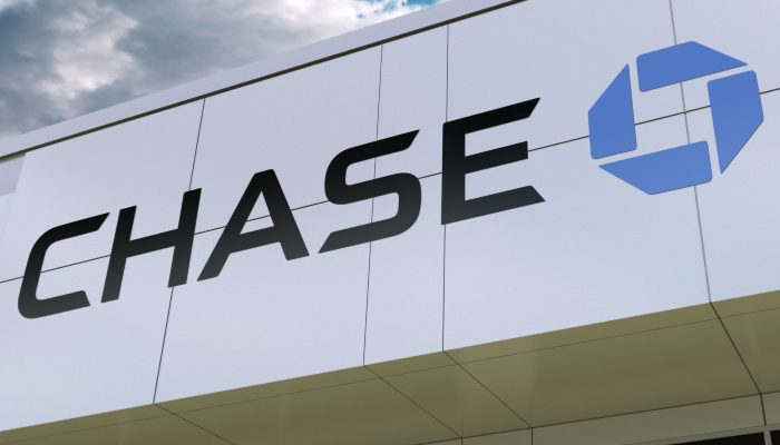 the store front of a Chase bank branch