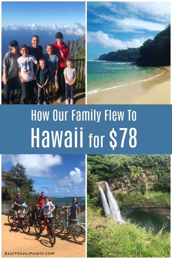Learn how to fly from the West Coast to Hawaii for just $11 per person! Using this travel hacking sweet spot you can save yourself hundreds, or thousands of dollars on your next vacation! #hawaiitravel #travelhacking #travelwithpoints #howtoflytohawaiiforcheap #freefamilytravel