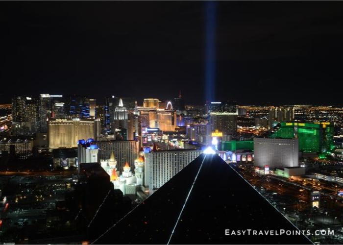 the Las Vegas skyline at night