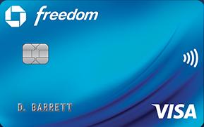 chase freedom card art