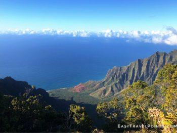 overlooking the Kalalau Valley in Kauai