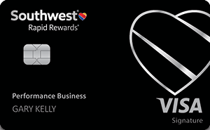 Southwest performance business credit card art