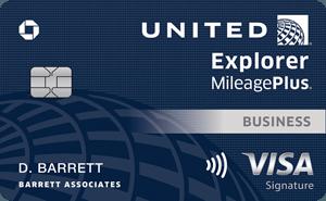 United explorer business credit card art