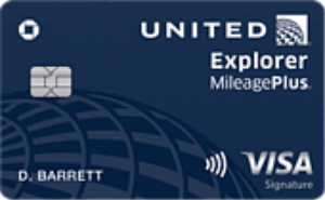 United Explorer credit card art