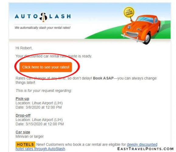 a quote email from autoslash