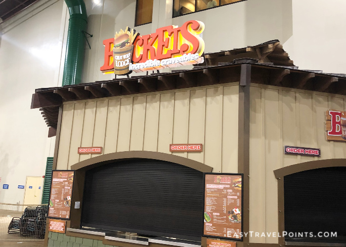 front of buckets craveables at great wolf