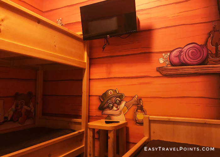 bunk beds in a room at the Great Wolf Lodge