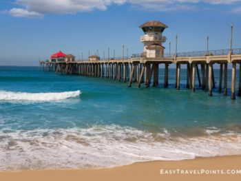 looking at the Huntington Beach Pier from the shore