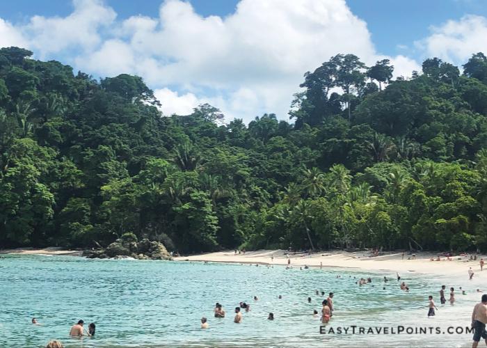 a beach inside manuel antonio national park