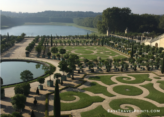 the gardens at the palace of Versailles