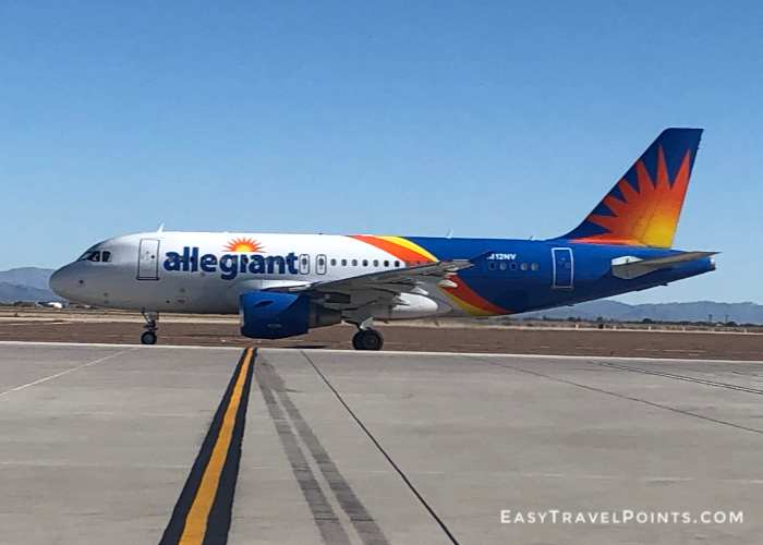 An Allegiant A320 airplane