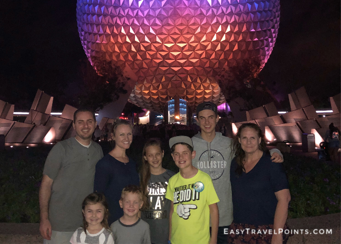 a family at Epcot Center