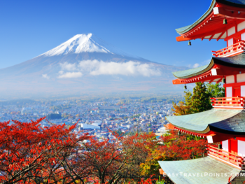 Japan with Mount Fuji in the background