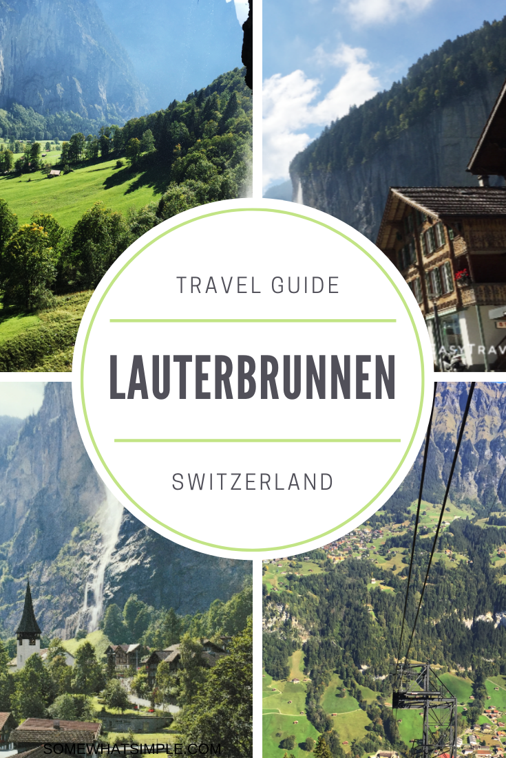 Lauterbrunnen, Switzerland is one of the most beautiful places in the world to visit.  Nestled in a valley, surrounded by the Swiss Alps, this breathtaking town should be on everyone's travel bucket list. With gorgeous waterfalls and majestic mountains, there's no place like it on earth.  #lauterbrunnenswitzerland #lauterbrunnenhotels #lauterbrunnenthingstodo #lauterbrunnentravelguide #besteuropeanvacation