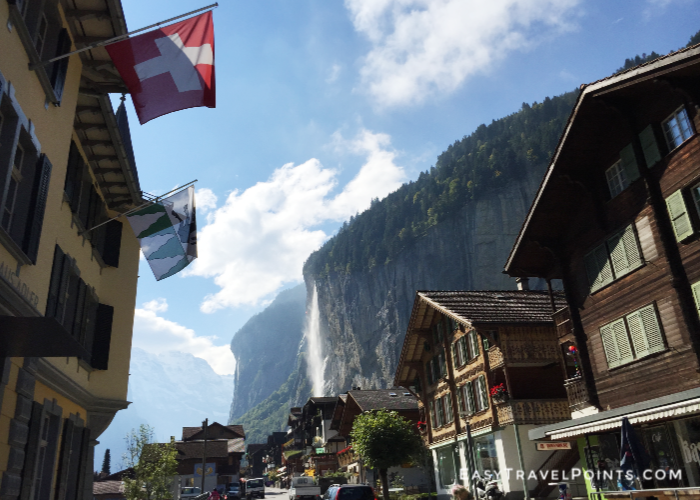 the main street in lauterbrunnen Switzerland