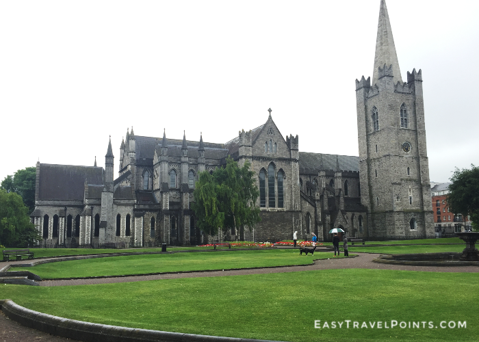 the exterior of St Patrick's Cathedral in Dublin