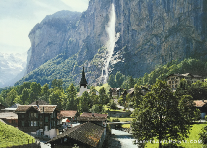 the village of Lauterbrunnen