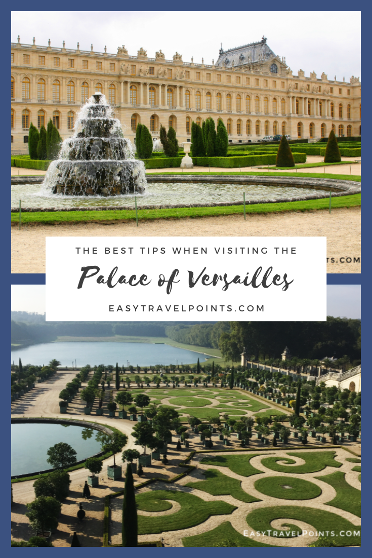 The Palace of Versailles is the 2nd most visited site in all of France. These tips will help you avoid the crowds and make your trip to Versailles even more enjoyable. From trains to tickets, this visitor's guide has it all. #visitingversaillesfromparis #tipsforvisitingversailles #palaceofversailles #francetravel #besttipsforvisitingpalaceofversailles