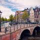 a bridge and canal in Amsterdam