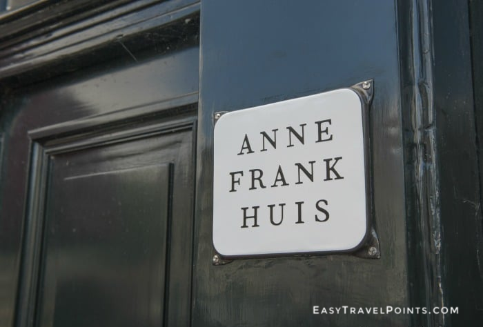 front door of the Anne Frank House museum