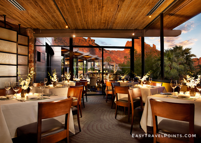 elements restaurant dining room sanctuary camelback