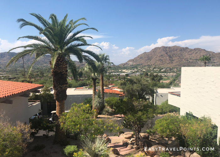 view of Paradise Valley from a balcony