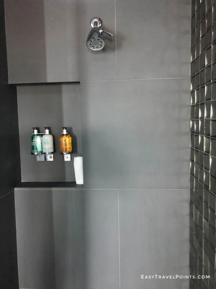 shower in a room at the sanctuary hotel