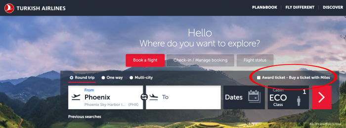 Turkish Airlines Home Page
