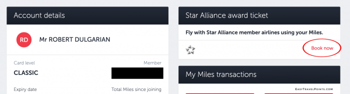 Turkish Airlines Star Alliance award search tool