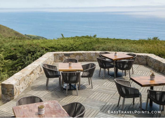 Ventana Sur House restaurant overlooking the ocean