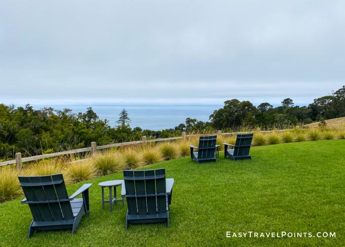 Lawn overlook of the ocean in Big Sur