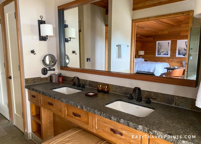 vanity area in a alila big sur suite