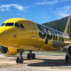 spirit airlines airplane on the ground