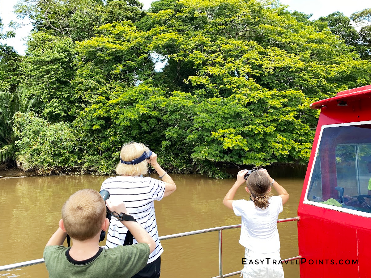 people on a boat tour at Caño Negro Costa Rica